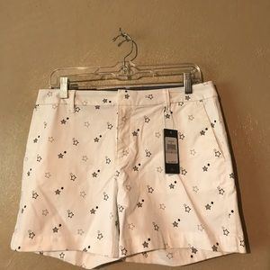 Tommy Hilfiger white shorts w/stars size 6 Cotton